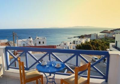 Balkon hotel Athos på Tinos