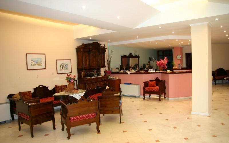 Receptionen Hotel Haroula, Santorini