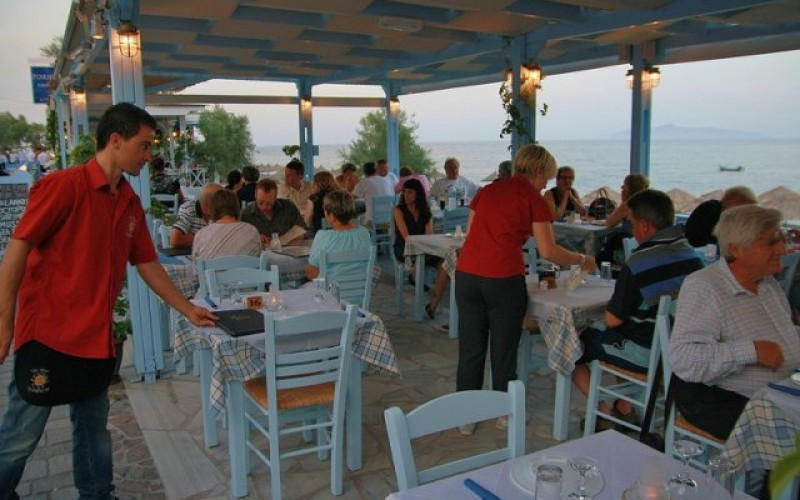 Restauranten hotel Sunshine, Santorini