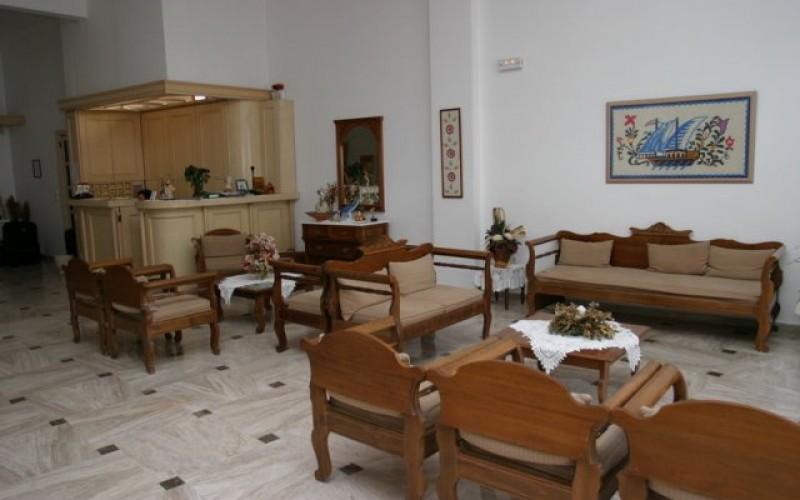 Receptionen hotel Sunshine, Santorini