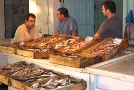 Nyd frisk fisk fra havnen i Aegina