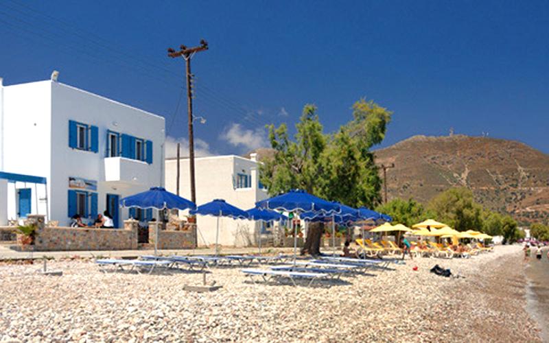 Stranden udenfor hotel Dream Island på Tilos