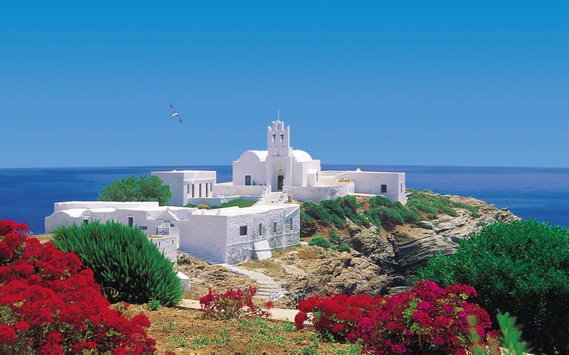 Famlieferie på Sifnos i Kykladerne